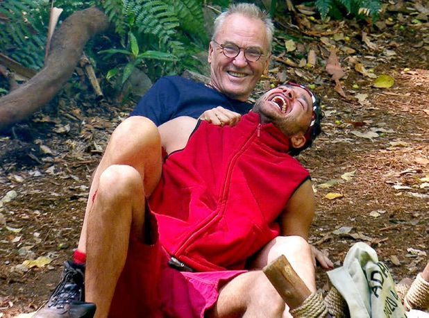 'I'm a Celebrity...Get Me Out of Here!' TV Show, Australia - 14 Nov 2016 Larry Lamb and Adam Thomas doing squats