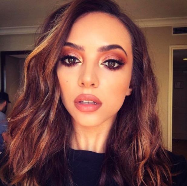 Jade Thirlwall looks amazing with 'sunset eyes' created by Adam Burrell using Anastasia Beverly Hills Modern Renaissance Eye Shadow Palette, 14 November 2016