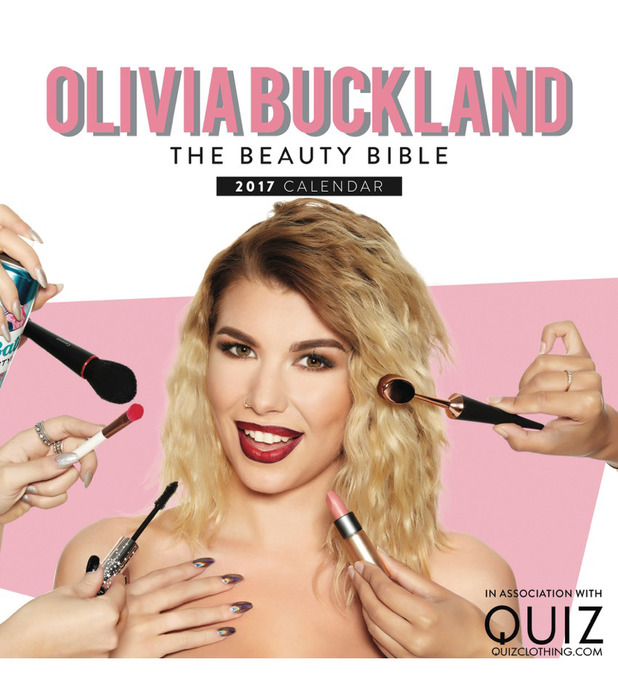 Love Island star Olivia Buckland launches The Beauty Bible Calendar, 18 November 2016