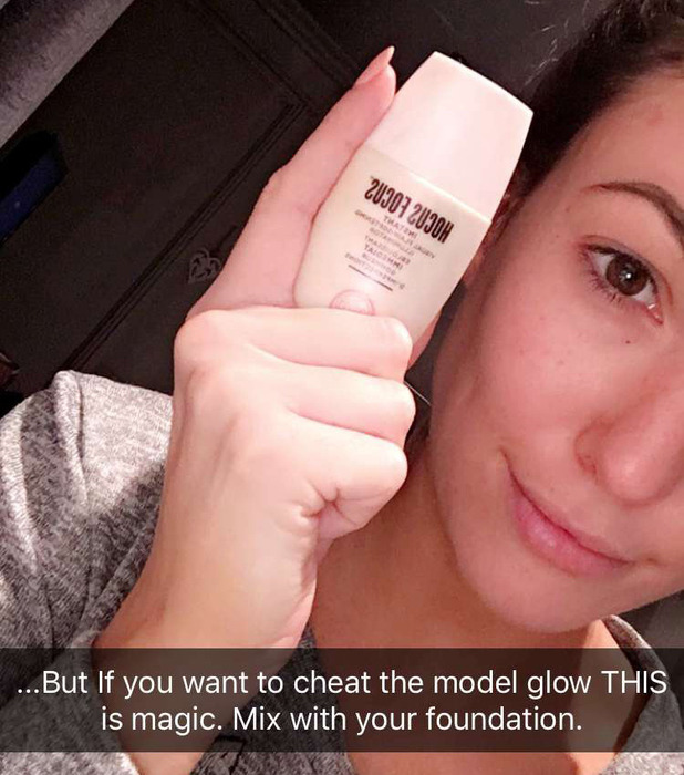 Love Island's Sophie Gradon shares beauty secrets on Snapchat, 14 November 2016