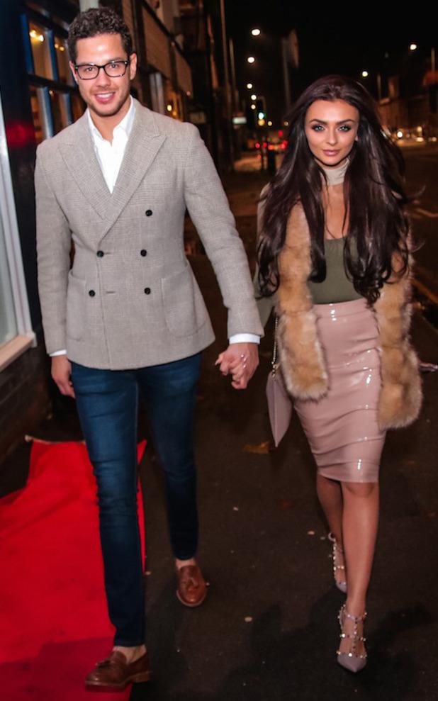 Love Island stars Kady McDermott and Scott Thomas at the Lavish Beauty launch party, Cheshire, 12 November 2016
