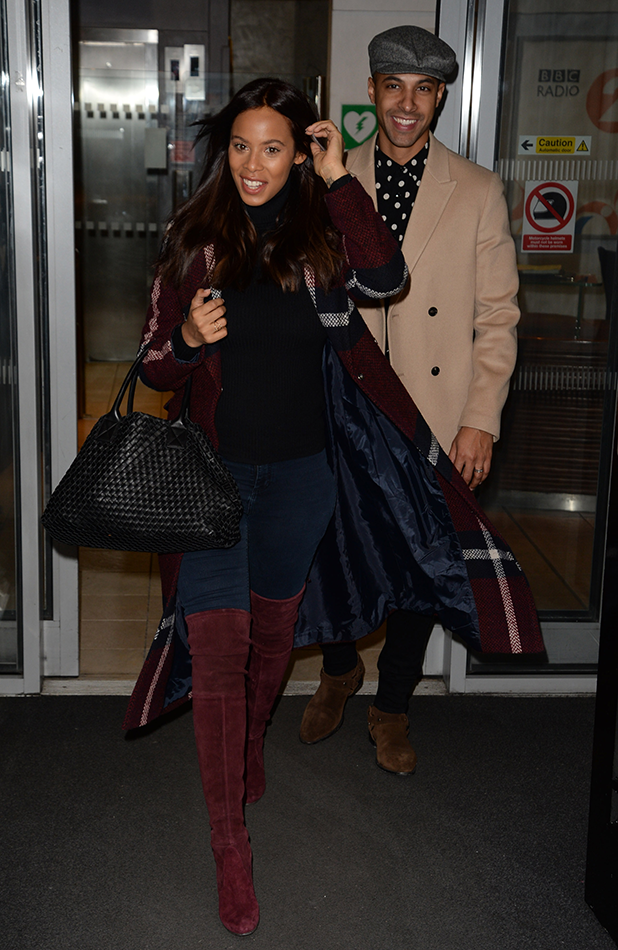 Marvin and Rochelle Humes at BBC Radio 2 2016