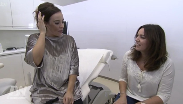 Stephanie Davis gets 4D scan for Loose Women 2016