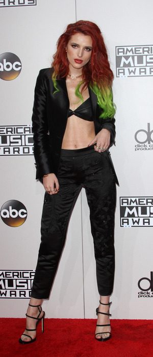 Scream actress Bella Thorne on the American Music Awards red carpet, Los Angeles, 20 November 2016