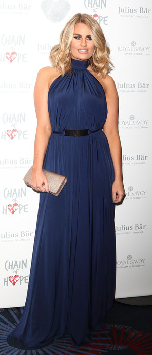 TOWIE star Danielle Armstrong at the Chain of Hope Annual Ball, London, 18 November 2016
