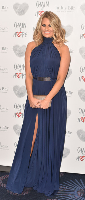 TOWIE star Danielle Armstrong attends the Chain of Hope Annual Ball, Grosvenor House, London, 18 November 2016