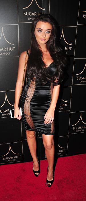 Love Island star Kady McDermott at Sugar Hut launch party, Liverpool, 23 November 2016