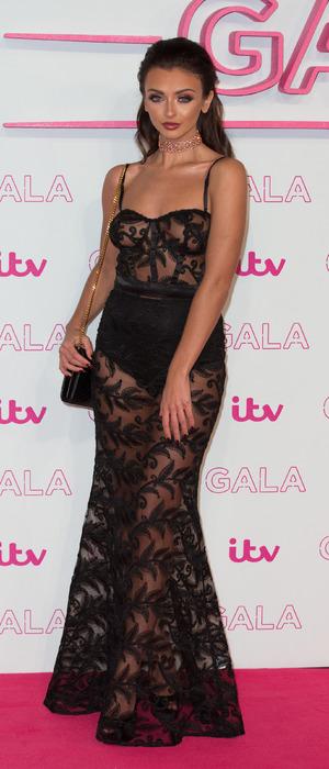 Love Island star Kady McDermott at the ITV Gala in London, 24 November 2016