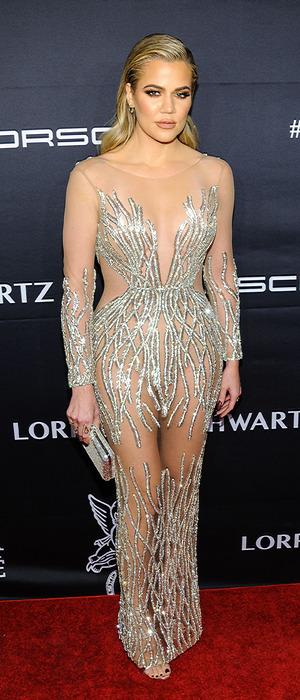 Khloe Kardashian attends Gabrielle's Angel Ball in New York, 21 November 2016
