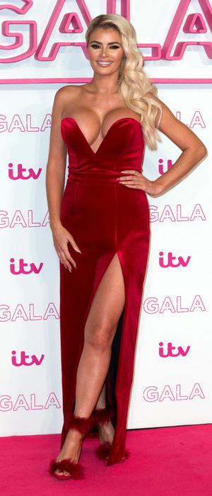 TOWIE's Chloe Sims at the ITV Gala, London, 24 November 2016