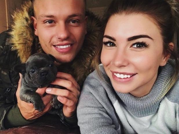 Olivia Buckland and Alex Bowen with puppy Reggie, Instagram 22 November