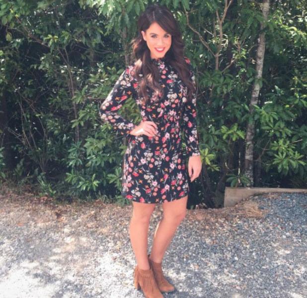 Vicky Pattison wearing Miss Selfridge dress on I'm A Celebrity: Extra Camp, Australia 21 November 2016