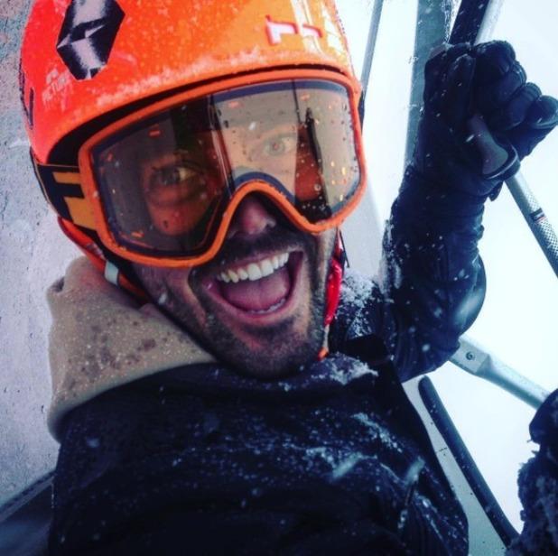 Spencer Matthews enjoys a skiing holiday in Brueil-Cervinia, 23 Nov 2016