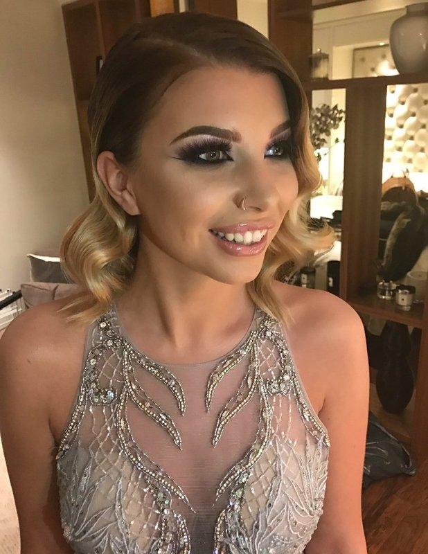 Olivia Buckland tweets her red carpet make-up for the ITV Gala - 24 Nov 2016