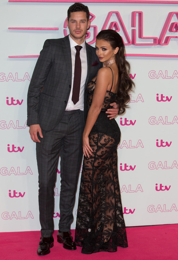 Kady McDermott and Scott Thomas attend the ITV Gala in London, 24 November 2016