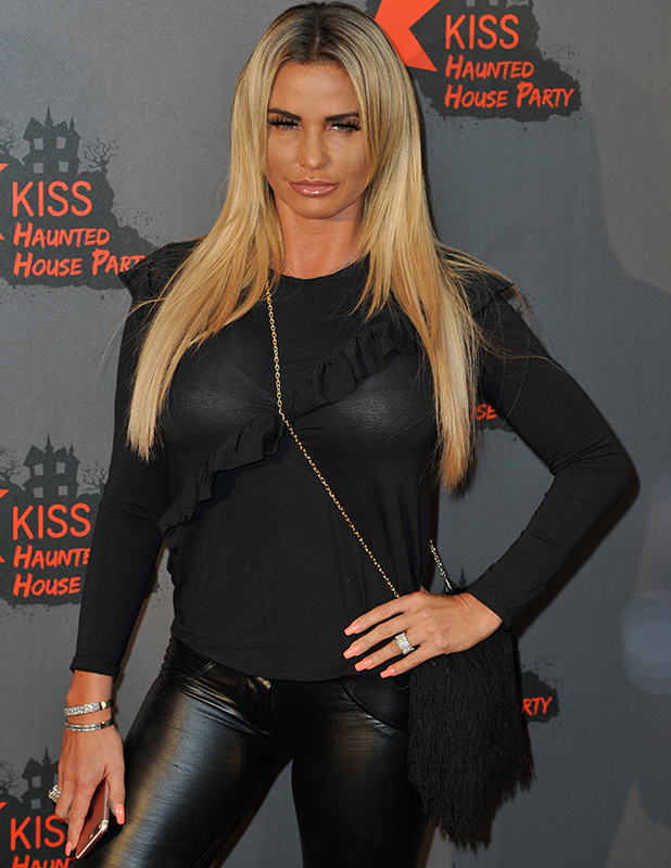 Katie Price Kiss FM Haunted House Party Wembley Arena