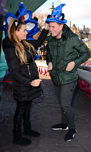 TOWIE's Georgia Kousoulou and Tommy Mallet at Disneyland Paris 2016