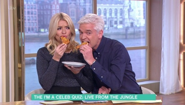Holly Willoughby and Phillip Schofield quiz I'm A Celeb campmates on This Morning 1 December