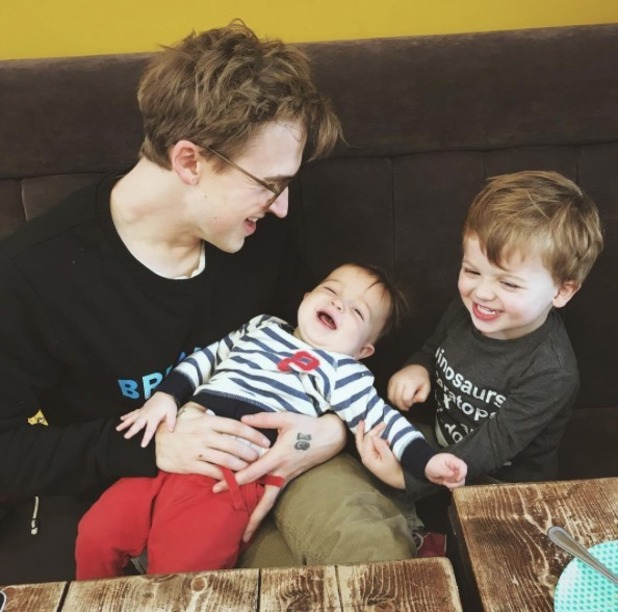 Tom Fletcher and his sons Buzz and Buddy - 29 November 2016