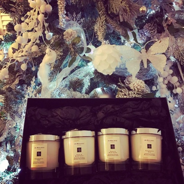 Maria Fowler shows off enviable, early Christmas gift from Jo Malone, 30 November 2016