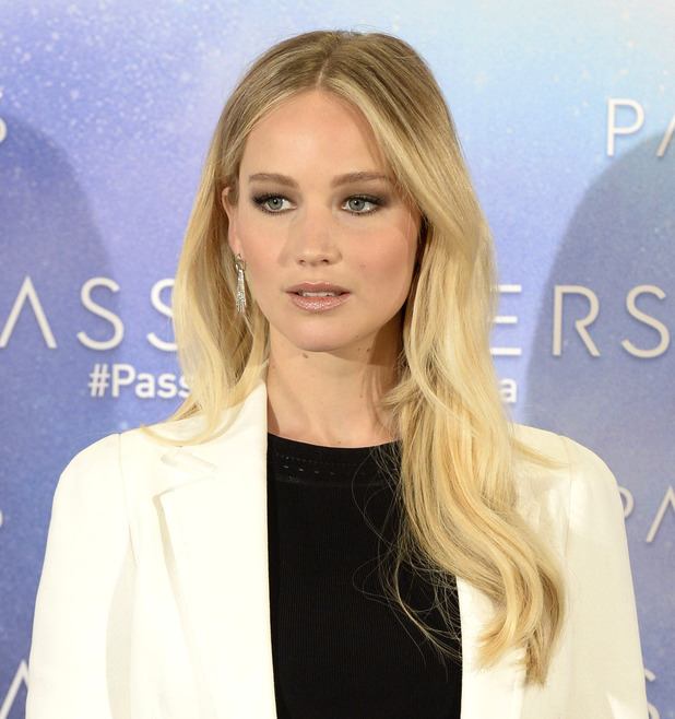 Actress Jennifer Lawrence attends a photocall for 'Passengers' at the Villamagna hotel on November 30, 2016 in Madrid, Spain.