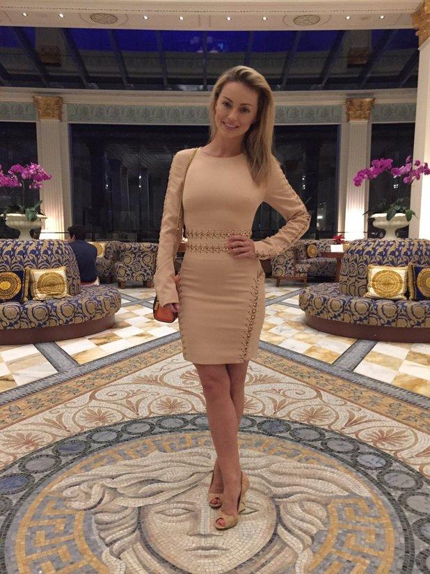 Ola Jordan enjoys The Versace hotel - 29 November 2016