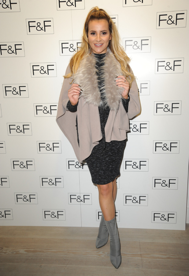 TOWIE star Georgia Kousoulou at the F&F SS17 clothing collection launch, London, 1 December 2016