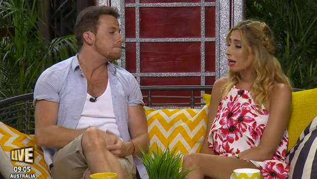 Stacey Solomon and Joe Swash on Extra Camp talking about I'm A Celebrity 2016