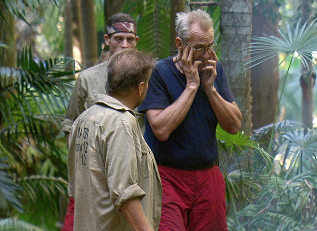 'I'm a Celebrity...Get Me Out of Here!' TV Show, Australia - 30 Nov 2016 Morning Story and Jordan's Exit - Larry Lamb and Jordan Banjo