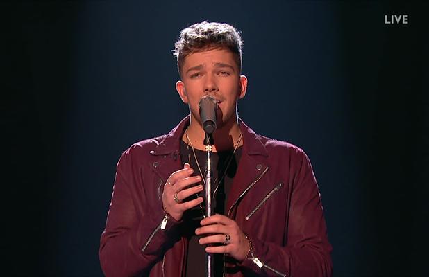 Matt Terry performing on X Factor 2016