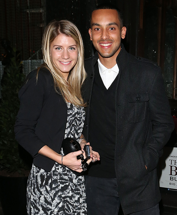 heo Walcott and Melanie Slade are seen at Buddah Bar on March 01, 2013 in London, United Kingdom. (Photo by SIANDERSON/Bauer-Griffin/GC Images)