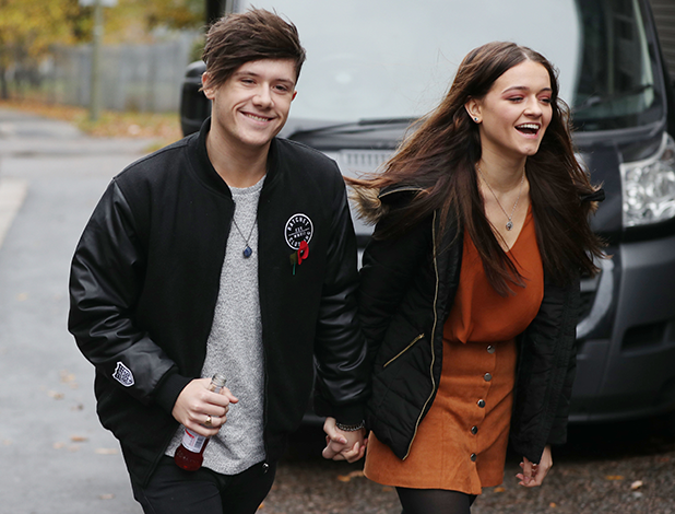 X Factor contestants arrive at Studio 45, Barnet, London, UK - 09 Nov 2016 Ryan Lawrie and Emily Middlemas