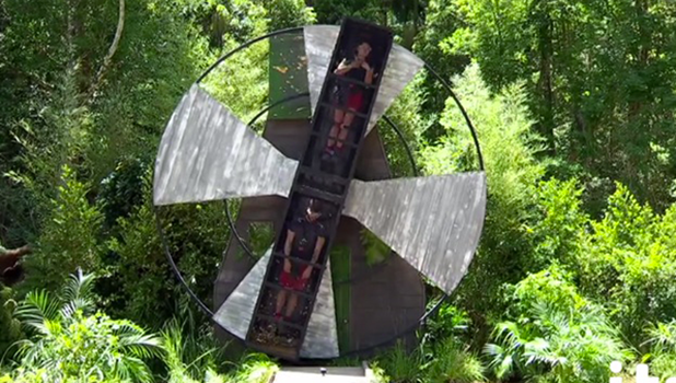 I'm A Celebrity: Sam Quek and Joel Dommett in Windmill trial 2016
