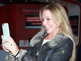 Celebrities arrive at London's Heathrow Airport after appearing on 'I'm a Celebrity...Get Me Out of Here!' in Australia Carol Vorderman