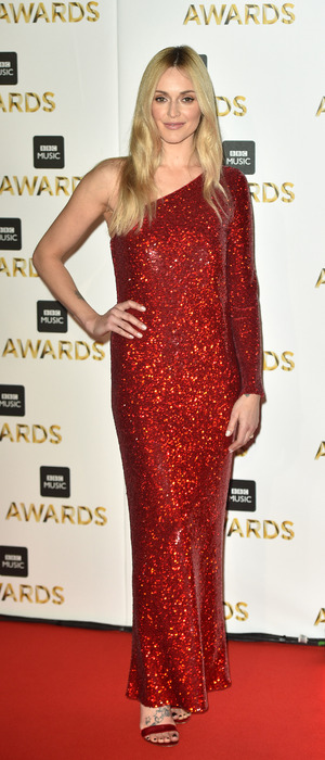Fearne Cotton on the red carpet at the BBC Music Awards, London, 12 November 2016