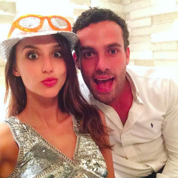 Lucy Watson and James Dunmore on holiday in Barbados, January 2016.